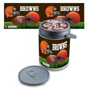 "Picnic Time® NFL Licensed ""Cleveland Browns"" Digital Print Polyethylene Can Cooler, White/Gray"
