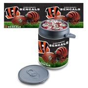 "Picnic Time® NFL Licensed ""Cincinnati Bengals"" Digital Print Polyethylene Can Cooler, White/Gray"