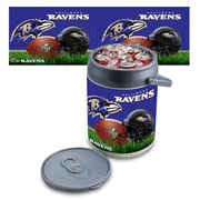 "Picnic Time® NFL Licensed ""Baltimore Ravens"" Digital Print Polyethylene Can Cooler, White/Gray"