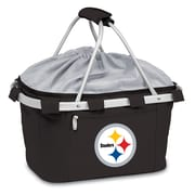 "Picnic Time® NFL Licensed Metro® ""Pittsburgh Steelers"" Digital Print Polyester Basket, Black"