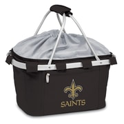 "Picnic Time® NFL Licensed Metro® ""New Orleans Saints"" Digital Print Polyester Basket, Black"