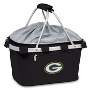 "Picnic Time® NFL Licensed Metro® ""Green Bay Packers"" Digital Print Polyester Basket, Black"