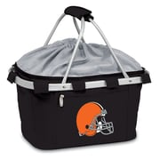 "Picnic Time® NFL Licensed Metro® ""Cleveland Browns"" Digital Print Polyester Basket, Black"