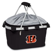 "Picnic Time® NFL Licensed Metro® ""Cincinnati Bengals"" Digital Print Polyester Basket, Black"