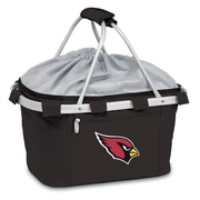 "Picnic Time® NFL Licensed Metro® ""Arizona Cardinals"" Digital Print Polyester Basket, Black"