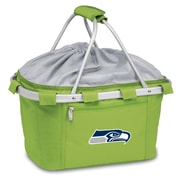 "Picnic Time® NFL Licensed Metro® ""Seattle Seahawks"" Digital Print Polyester Basket, Lime"