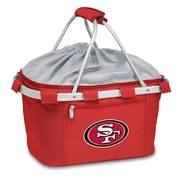 """Picnic Time® NFL Licensed Metro® """"San Francisco 49Ers"""" Digital Print Polyester Basket, Red"""