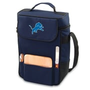 "Picnic Time® NFL Licensed Duet ""Detroit Lions"" Digital Print Wine Picnic Tote, Navy"