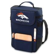 """Picnic Time® NFL Licensed Duet """"Denver Broncos"""" Digital Print Wine Picnic Tote, Navy"""