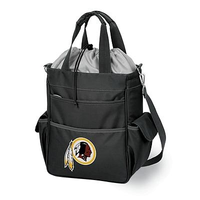 """Picnic Time® NFL Licensed Activo """"Washington Redskins"""" Digital Print Polyester Cooler Tote, Black"""