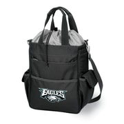 "Picnic Time® NFL Licensed Activo ""Philadelphia Eagles"" Digital Print Polyester Cooler Tote, Black"