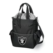 "Picnic Time® NFL Licensed Activo ""Oakland Raiders"" Digital Print Polyester Cooler Tote, Black"