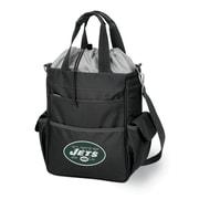 "Picnic Time® NFL Licensed Activo ""New York Jets"" Digital Print Polyester Cooler Tote, Black"