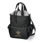 "Picnic Time® NFL Licensed Activo ""New Orleans Saints"" Digital Print Polyester Cooler Tote, Black"