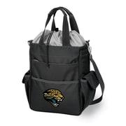 """Picnic Time® NFL Licensed Activo """"Jacksonville Jaguars"""" Digital Print Polyester Cooler Tote, Black"""