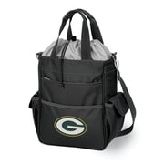 """Picnic Time® NFL Licensed Activo """"Green Bay Packers"""" Digital Print Polyester Cooler Tote, Black"""