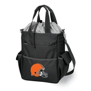 "Picnic Time® NFL Licensed Activo ""Cleveland Browns"" Digital Print Polyester Cooler Tote, Black"