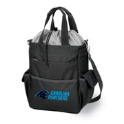 "Picnic Time® NFL Licensed Activo ""Carolina Panthers"" Digital Print Polyester Cooler Tote, Black"