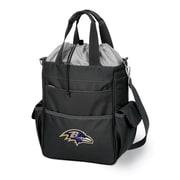 """Picnic Time® NFL Licensed Activo """"Baltimore Ravens"""" Digital Print Polyester Cooler Tote, Black"""