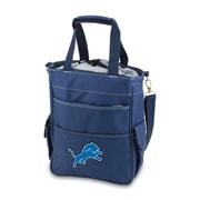 "Picnic Time® NFL Licensed Activo ""Detroit Lions"" Digital Print Polyester Cooler Tote, Navy"