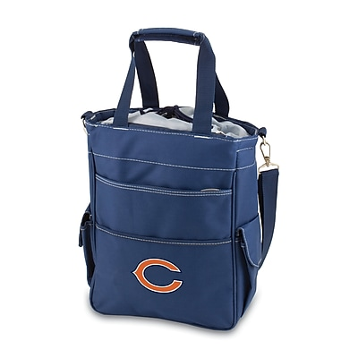 "Picnic Time® NFL Licensed Activo ""Chicago Bears"" Digital Print Polyester Cooler Tote, Navy"