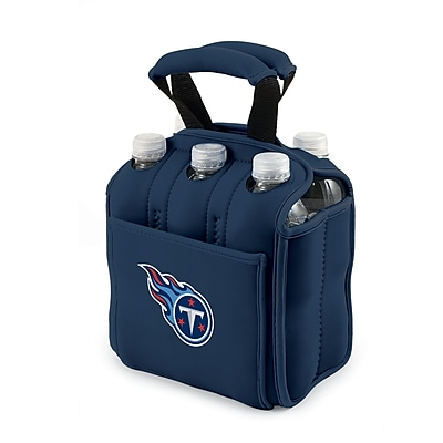 """""Picnic Time NFL Licensed Six Pack """"""""Tennessee Titans"""""""" Digital Print Neoprene Cooler Tote, Navy"""""" 919651"