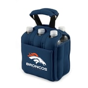 "Picnic Time® NFL Licensed Six Pack ""Denver Broncos"" Digital Print Neoprene Cooler Tote, Navy"