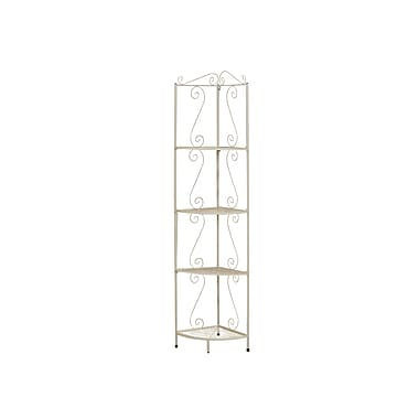 Monarch® Hammered Metal Corner Display Etagere, 70