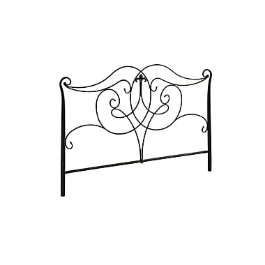 Monarch® Traditional Queen/Full Size Combo Metal Head/Footboard, Satin Black