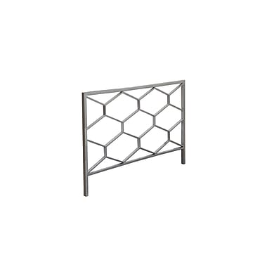 Monarch® Honeycomb Queen/Full Size Combo Metal Head/Footboard, Silver