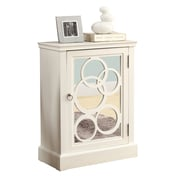 Monarch® MDF Contemporary Bombay Chest, White/Mirror