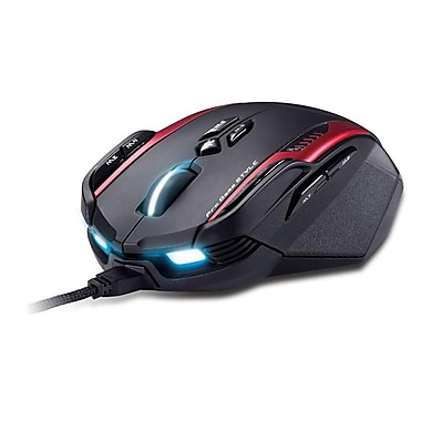 Genius Gila GX MMO/RTS Professional Gaming Mouse, Black/Red