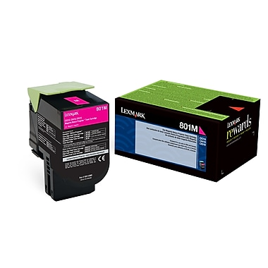Lexmark 801M Magenta Return Program Toner Cartridge (80C10M0)