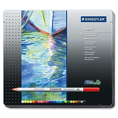Staedtler® Mars Karat® Aquarell Premium Watercolour Pencils, 24/Pack