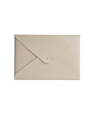 Paperthinks™ Recycled Leather File Folder, Ivory Shiny