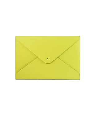 Paperthinks™ Recycled Leather File Folder, Baby Maize