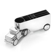 Troika® Office Trucker Paperweight and Pen Holder, Silver