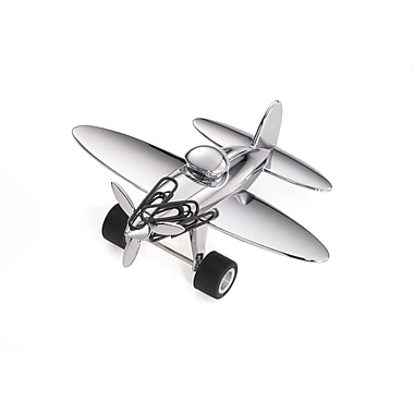 Troika® Stop Over Aeroplane Paperweight, Silver