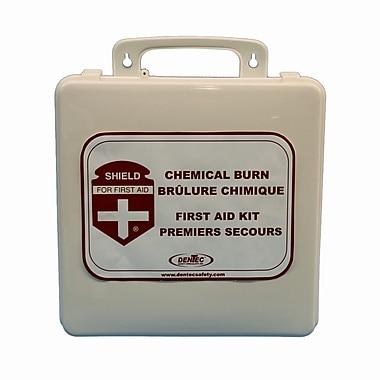 Shield – Trousse de premiers soins pour brûlures chimiques, 24 articles, boîtier plastique
