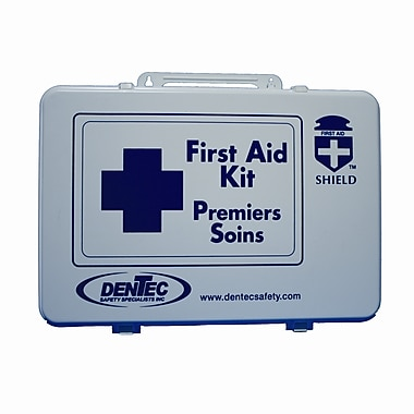 Shield Level #3 Regulation Standard First Aid Kit, Saskatchewan, 36 Unit, 40+ Persons, Plastic Box