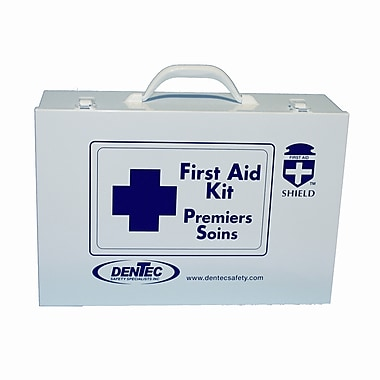 Shield Level #2 Regulation Standard First Aid Kit, Northwest Territories & Nunavut, 6-10 Persons, Metal Box