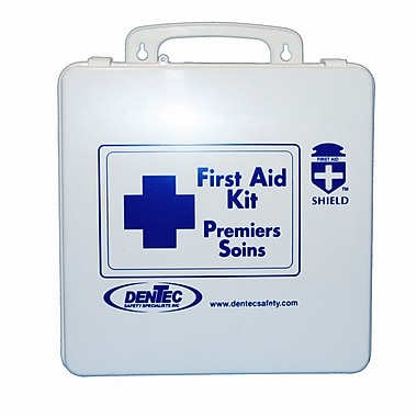 Shield Level #1 Regulation Standard First Aid Kit, Northwest Territories & Nunavut, 24 Unit,1-5 Person(s), Plastic Box