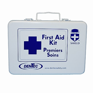 Shield Level #1 Regulation Standard First Aid Kit, Saskatchewan, 16 Unit, 1-9 Person(s), Metal Box