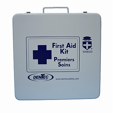 Shield Level #1 Regulation Standard First Aid Kit, Northwest Territories & Nunavut, 24 Unit,1-5 Person(s), Metal Box