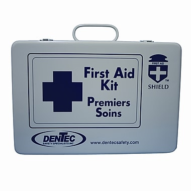 Shield Regulation Standard First Aid Kit, Manitoba, 36 Unit, 1-25 Person(s), Metal Box
