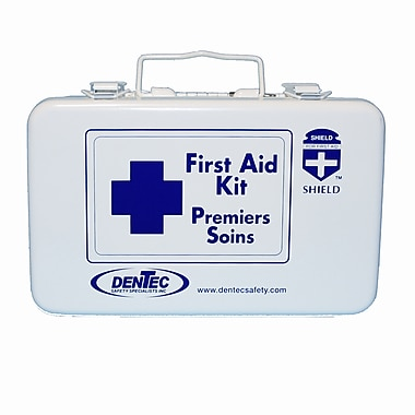 Shield Level #1 Personal Regulation Bulk First Aid Kit, Newfoundland, 10 Unit, 1 Person, Metal Box