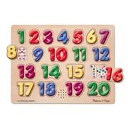 Melissa & Doug® Spanish Number Sound Puzzle, 20 Pieces