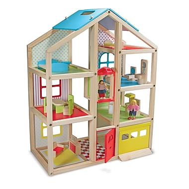 Melissa & Doug® Hi-Rise Dollhouse and Furniture Toy Set