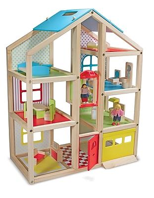 Melissa & Doug® Hi-Rise Dollhouse and Furniture Toy Set