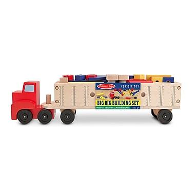 Melissa & Doug® Big Rig Building Truck Wooden Play Set